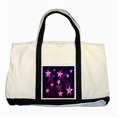 Background With A Stars Two Tone Tote Bag
