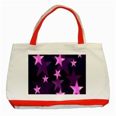 Background With A Stars Classic Tote Bag (red)
