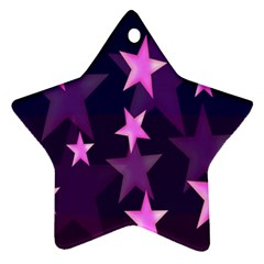 Background With A Stars Star Ornament (two Sides)