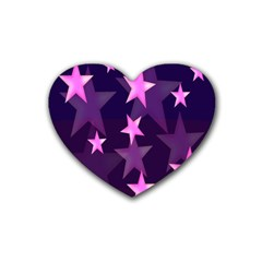 Background With A Stars Heart Coaster (4 pack)