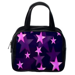 Background With A Stars Classic Handbags (One Side)