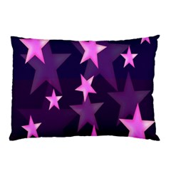 Background With A Stars Pillow Case
