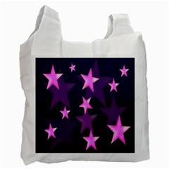 Background With A Stars Recycle Bag (one Side)