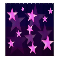 Background With A Stars Shower Curtain 66  x 72  (Large)