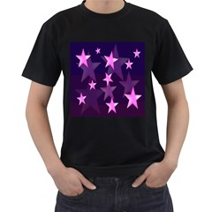 Background With A Stars Men s T Shirt (black)