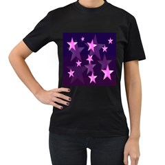 Background With A Stars Women s T-Shirt (Black)