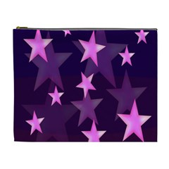 Background With A Stars Cosmetic Bag (xl)