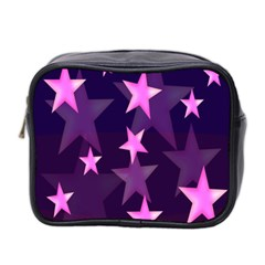 Background With A Stars Mini Toiletries Bag 2-Side