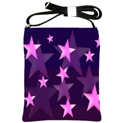 Background With A Stars Shoulder Sling Bags