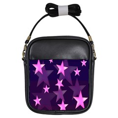 Background With A Stars Girls Sling Bags