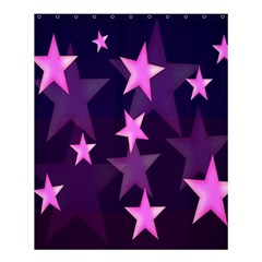 Background With A Stars Shower Curtain 60  x 72  (Medium)