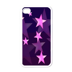 Background With A Stars Apple iPhone 4 Case (White)