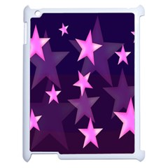 Background With A Stars Apple Ipad 2 Case (white)