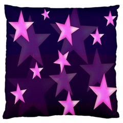 Background With A Stars Large Cushion Case (One Side)