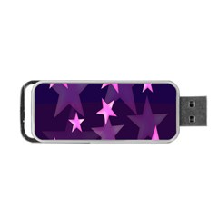 Background With A Stars Portable Usb Flash (one Side)