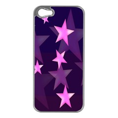 Background With A Stars Apple Iphone 5 Case (silver)