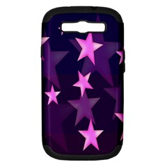 Background With A Stars Samsung Galaxy S III Hardshell Case (PC+Silicone)