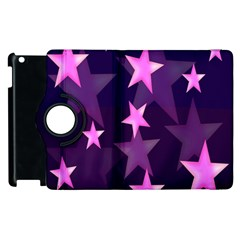 Background With A Stars Apple Ipad 3/4 Flip 360 Case