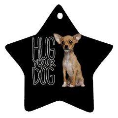 Chihuahua Star Ornament (Two Sides)