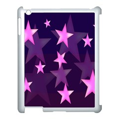 Background With A Stars Apple Ipad 3/4 Case (white)