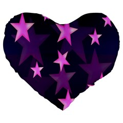 Background With A Stars Large 19  Premium Heart Shape Cushions
