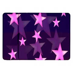 Background With A Stars Samsung Galaxy Tab 8 9  P7300 Flip Case