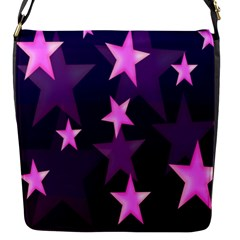 Background With A Stars Flap Messenger Bag (S)