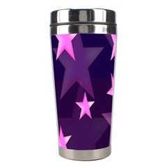 Background With A Stars Stainless Steel Travel Tumblers