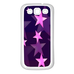 Background With A Stars Samsung Galaxy S3 Back Case (white)