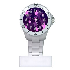 Background With A Stars Plastic Nurses Watch