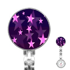 Background With A Stars Stainless Steel Nurses Watch