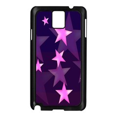 Background With A Stars Samsung Galaxy Note 3 N9005 Case (black)