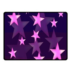 Background With A Stars Double Sided Fleece Blanket (Small)