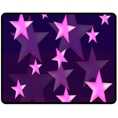 Background With A Stars Double Sided Fleece Blanket (medium)