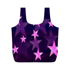Background With A Stars Full Print Recycle Bags (m)