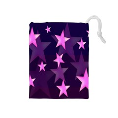 Background With A Stars Drawstring Pouches (medium)
