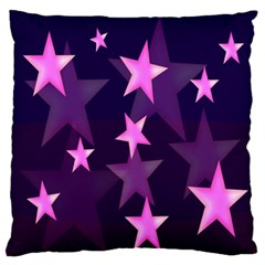 Background With A Stars Large Flano Cushion Case (two Sides)