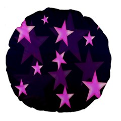Background With A Stars Large 18  Premium Flano Round Cushions