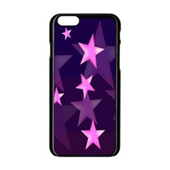 Background With A Stars Apple Iphone 6/6s Black Enamel Case