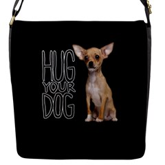 Chihuahua Flap Messenger Bag (S)