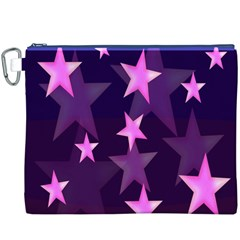 Background With A Stars Canvas Cosmetic Bag (XXXL)