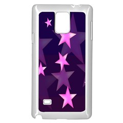 Background With A Stars Samsung Galaxy Note 4 Case (white)