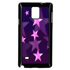 Background With A Stars Samsung Galaxy Note 4 Case (Black)