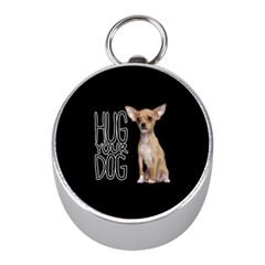 Chihuahua Mini Silver Compasses