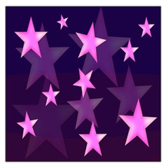 Background With A Stars Large Satin Scarf (Square)