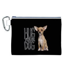 Chihuahua Canvas Cosmetic Bag (L)
