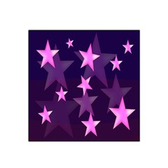 Background With A Stars Satin Bandana Scarf