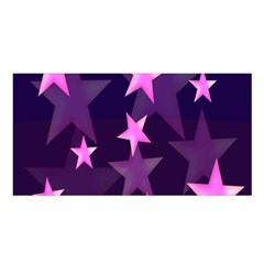 Background With A Stars Satin Shawl