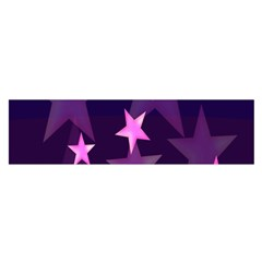 Background With A Stars Satin Scarf (oblong)