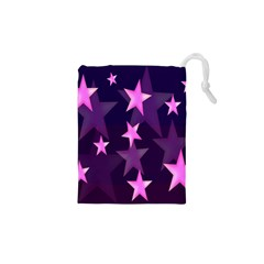 Background With A Stars Drawstring Pouches (XS)